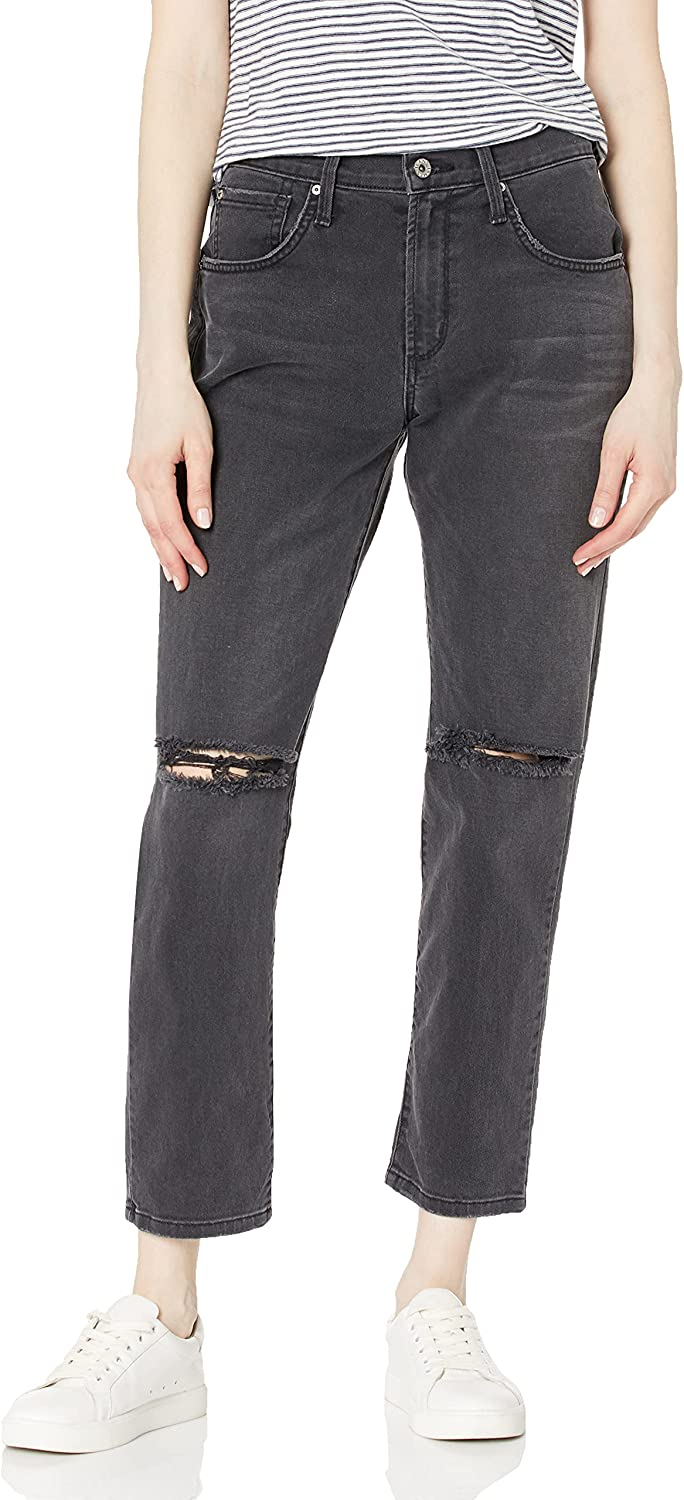 James Jeans Ranking TOP1 Max 64% OFF Women's Donna High-Rise Straight V Jean in Leg Ankle