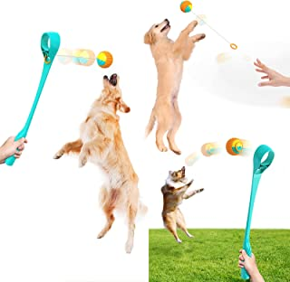 Multi-Function Pet Ball Throwing Stick Outdoor Training Tossing Ball Device Interactive Toy,Tools to Improve Pets'Responsi...