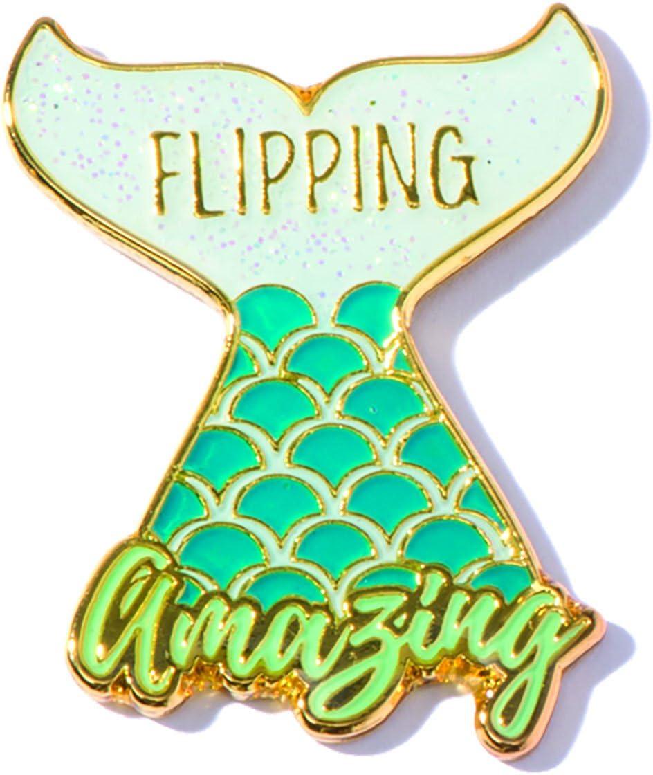 TCDesignerProducts Flipping Amazing Mermaid Appreciation Award Lapel Pin