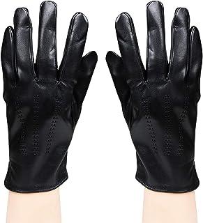 Bongio Mens designer Gloves Black