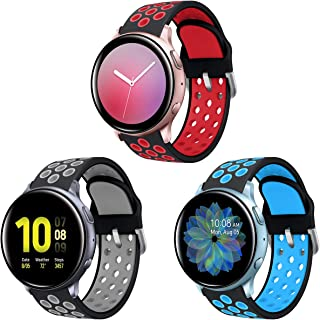 Syxinn Kompatibel med 20 mm armband Galaxy Watch Active/Active 2 40 mm 44 mm/Galaxy Watch 3 41 mm armband klockarmband sil...
