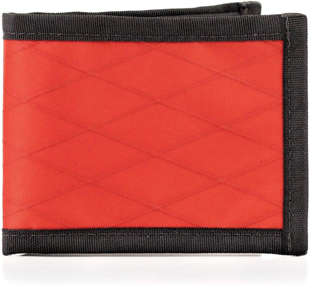 Flowfold Vanguard Minimalist Bifold Wallet - Ultralight, Slim Wallet, Front Pocket Wallet & Made in USA Wallet (Red)