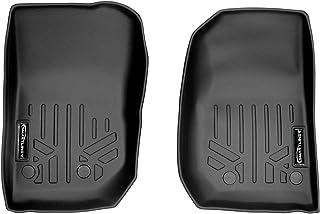 SMARTLINER Floor Mats 1st Row Liner Set Black for 2014-2018 Jeep Wrangler 2-Dr and Unlimited Models (JK Old Body Style Only)