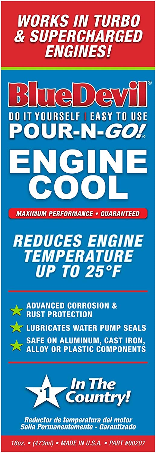 Blue Devil 00207 Challenge the lowest price Pour-N-Go Max 64% OFF Engine Cool 16 Ounce - Green