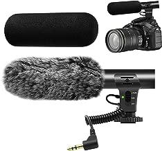Camera Microphone,Veksun Video Microphone for DSLR Interview Shotgun Mic for Canon Nikon Sony Panasonic Fuji Videomic with Windscreen 3.5mm Jack
