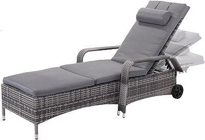 Amazon.com: allblessings Patio Pool Chaise Lounge - Silla ...