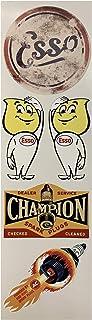 #672 / 5X Aufkleber Esso Vintage Racing Champion Hot Rod Rennsport Oldtimer Retro Sticker Oldschool Rockabilly Rocker