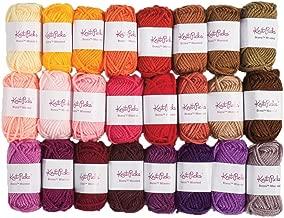 Knit Picks Brava Mini Pack Worsted Premium Acrylic Yarn - 24 Pack (10g Minis, Reds)