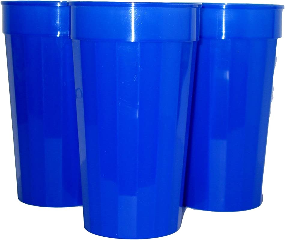Talisman Plastic Fluted Drinking Tumblers Large 32 Ounces 12 Pack Royal Blue