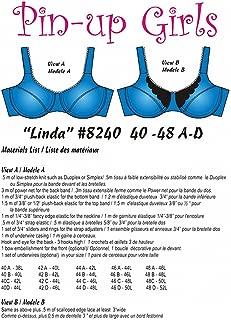 Pin-Up Girls: Linda Partial Band Bra Pattern (40-48 A-D)