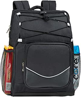 Backpack Cooler Backpack Insulated, Hiking backpack coolers, travel backpack Great soft cooler bag for Backpacking, camping, picking bag, beach bag, lunch bag for women and men, 20 cans Black Backpack