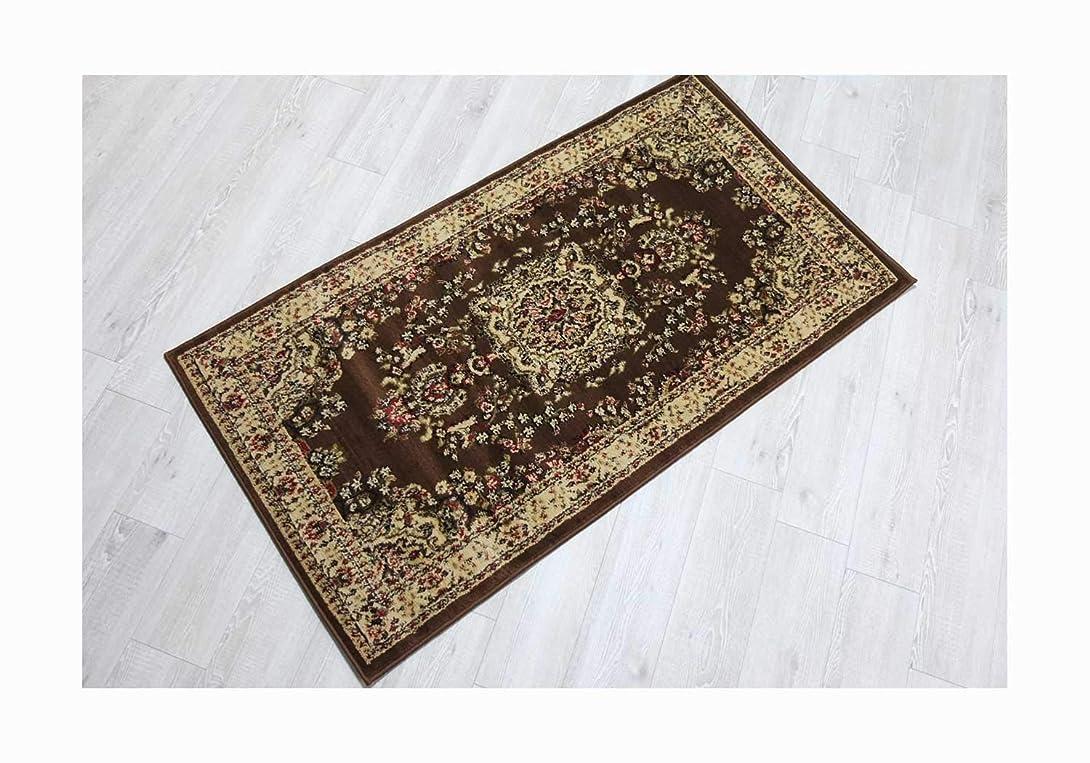 欠伸ドラゴン多様性ヨーロピアンウィルトン織り 玄関マット ラグマット 選べる2サイズ (ブラウン, 80×150cm(約1帖))