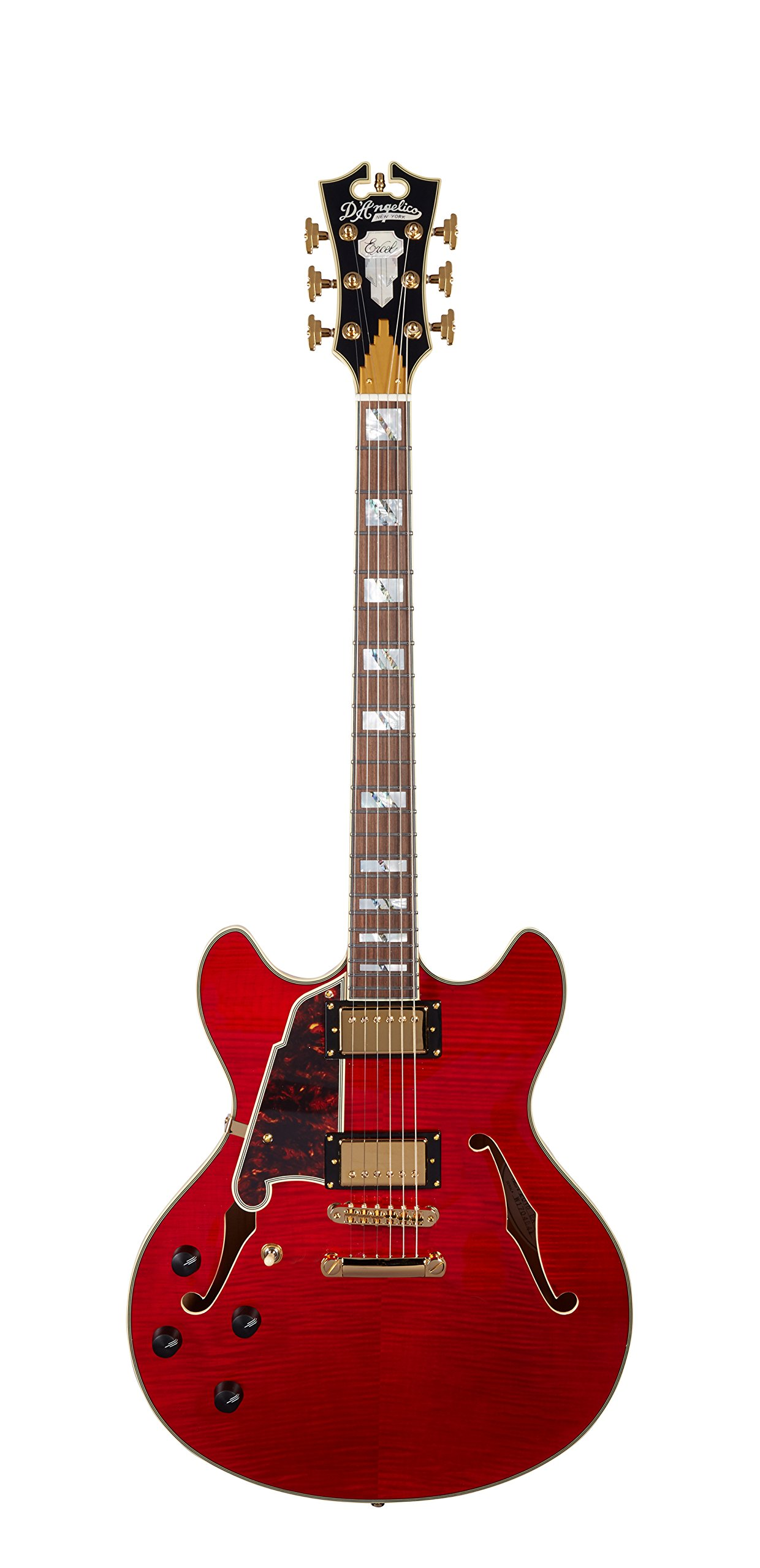 Cheap D Angelico Excel DC Semi-Hollow Lefty Electric Guitar - Cherry Black Friday & Cyber Monday 2019