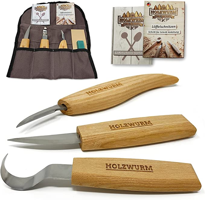 210 opinioni per HOLZWURM set di strumenti per intaglio del legno con borsa, istruzioni (DE+EN) e