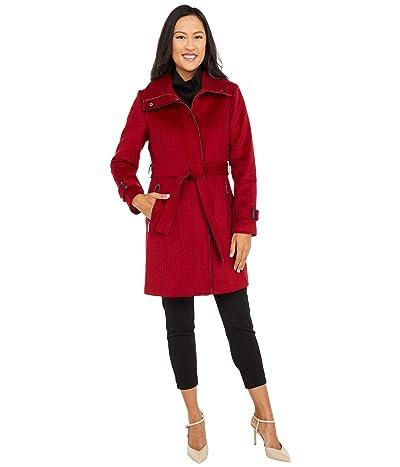 Vince Camuto Belted Wool Coat V20734-ZA (Biking Red) Women