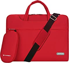 YOUPECK Water Repellent 13-13.3 Inch Laptop Shoulder Bag Compatible MacBook Air Pro 13, Ultrabook Chromebook, Polyester Protective Messenger Briefcase Men Women Carrying Handbag Sleeve Case, Red