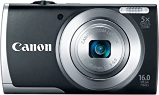 Canon PowerShot A2500 16MP Digital Camera with 5x Optical Image Stabilized Zoom with 2.7-Inch LCD (Black)