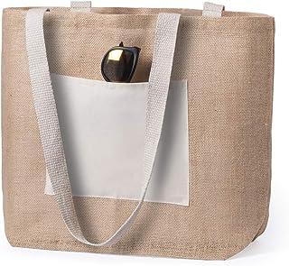 Majami Bolsas de tela reutilizables, tote bag ecológico, biodegradable, Bolsa de materiales naturales en combinación de al...