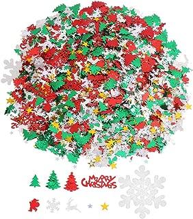CCINEE 100g/4800 Pieces Christmas New Year Metallic Foil Confetti Sequins Table Confetti Bright Christmas and New Year Decoration Set (Christmas Confetti)
