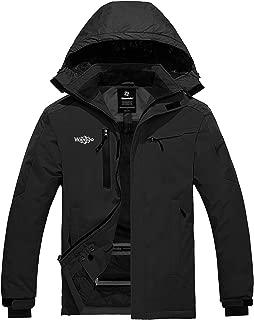 Wantdo Men's Hooded Mountain Ski Fleece Jacket Windproof Rain Coat Outdoors
