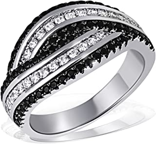 Damen Silber Ring Silber 925 Zirkonia weiß 17-19 mm  Sterlingsilber ss135