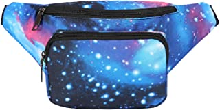 HDE Fanny Pack [80's Style] Waist Pack Outdoor Travel Crossbody Hip Bag (Galaxy)