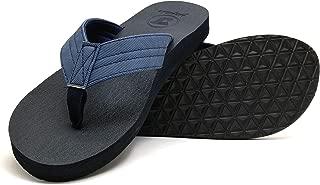 jiajiale Mens Yoga Foam Flip Flops Arch Support Slip on Thong Sandals Summer Beach Shoes