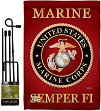 Breeze Decor GS108057-BO Marine Corps Americana Military Impressions Decorative Vertical 13