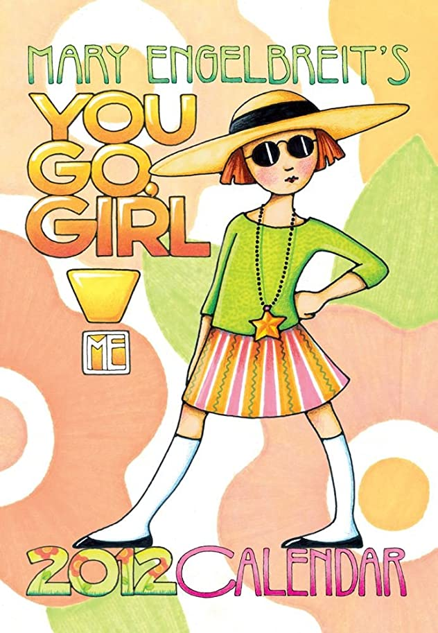 犯罪エリート利用可能Mary Engelbreit's You Go Girl!: 2012 Monthly Pocket Planner