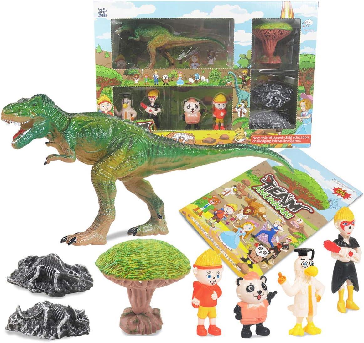 KOMI Dinosaur Toys Set Online limited product for Boys Tyrannosau Pcs Girls High material Dino 8 Kit