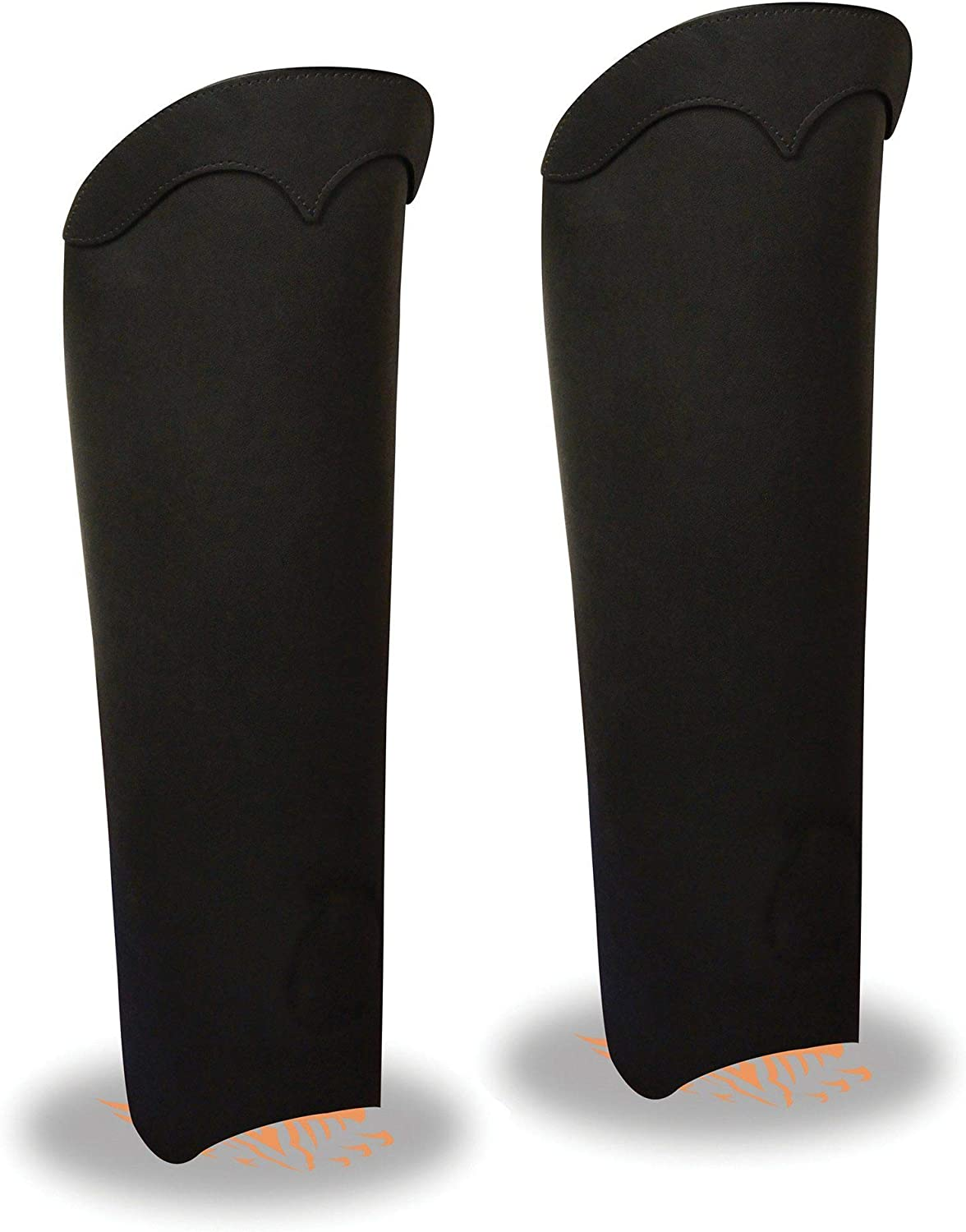 Milwaukee Leather MLM5555 Unisex Black Leather Half Chaps with Back Zipper