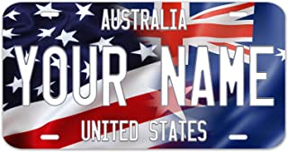 Bleu Reign Personalized Custom Name Mixed USA and Country Flag 12