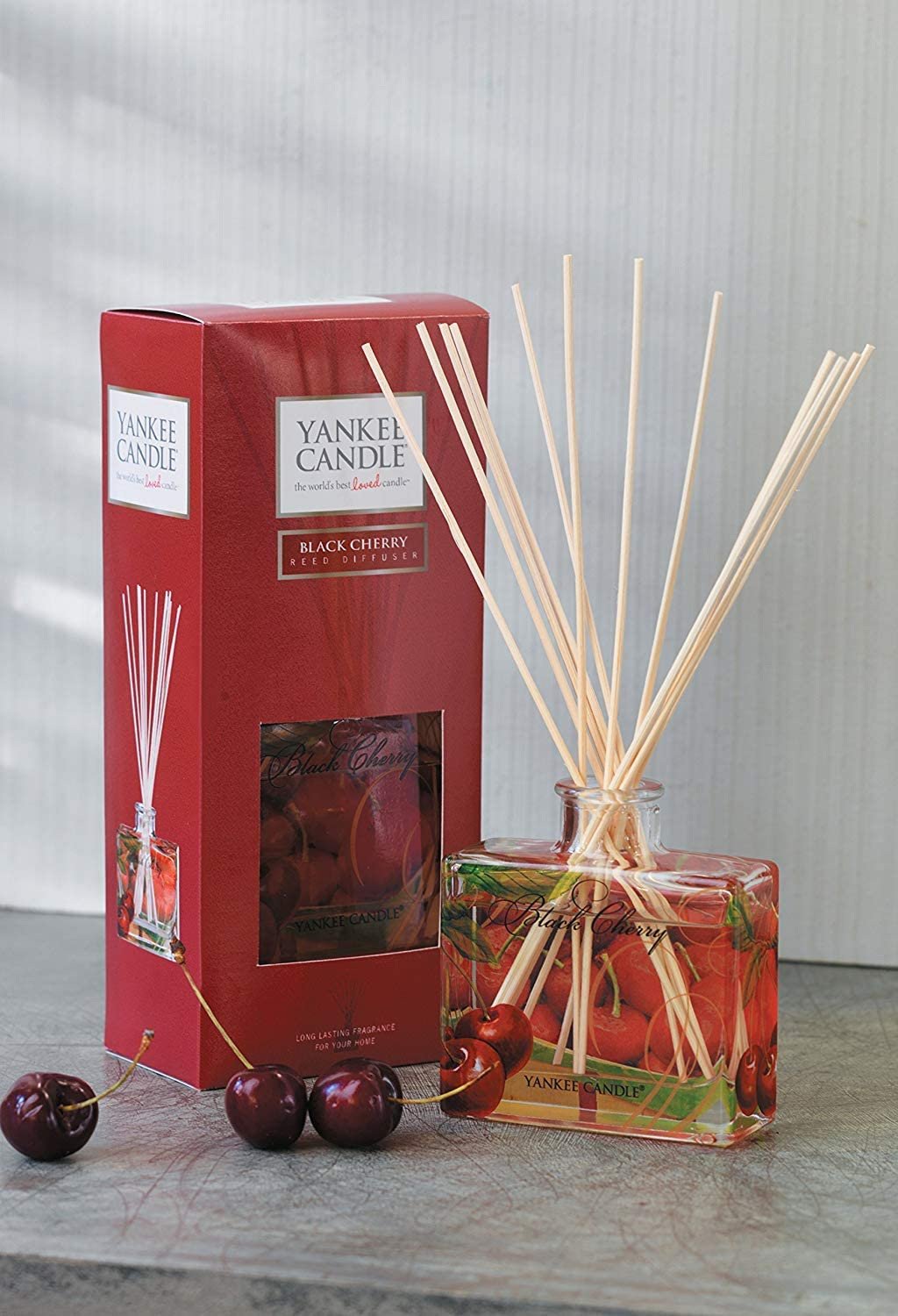 Yankee Candle Signature Reed Aroma Diffusor, Black Cherry, hält ...