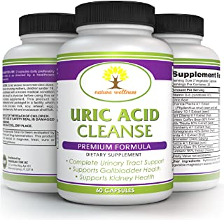 Premium Uric Acid Cleanse - All Natural Formula - Help Reduce Redness, Tenderness and Swelling of The Joints - Vegetable Extract