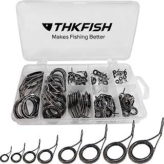 THKFISH 釣り竿ガイド 釣り竿修理キット交換用ロッドガイド 75個