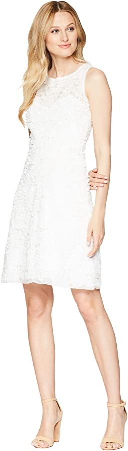 Soft Petal Textured Cocktail Dress