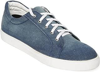 Bruno Manetti Men Navy Blue Fabric Sneakers