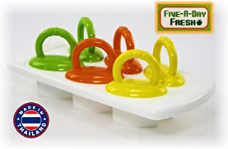 Five-A-Day 6 Fresh Food Freezer Pops with Easy Grip Handles, Drip Guard and Tray