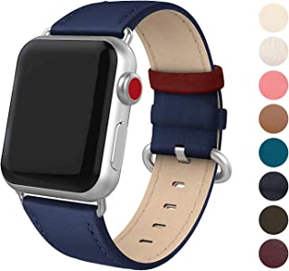 SWEES Leather Band Compatible iWatch 38mm 40mm, Genuine Leather Elegant Dressy Replacement Strap Compatible iWatch Series 5 Series 4 Series 3 Series 2 Series 1 Sport Edition Women, Royal Blue