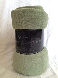 Luxury Discounts Warm & Cozy Soft Plush Solid Fleece Throw Blanket (50