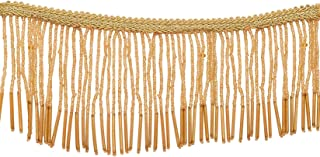 Gold Motif Work Stone Work Border by 9 Yard - Gold Gota Patti Lace,Glass Gold Beads,Stone Work,Indian Trim,Fringe Trim,Tssels Trim,Bollywood Sari,Wedding Saree Border Embroidered Ribbons Indian Trim
