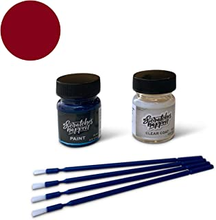 ScratchesHappen Exact-Match Touch Up Paint Kit Compatible with Acura/Honda Milano Red (R81-B/R81-C/R81-M) - Essential