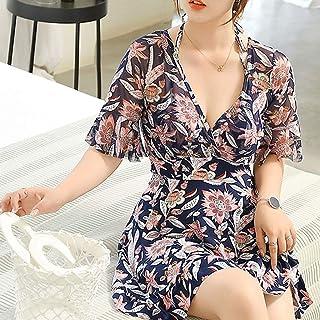 بيكيني نسائي من swimsuit للنساء قطعة واحدة من ملابس السباحة خمر البطن وهواة الدعاوى (اللون : أسود، المقاس: XL)