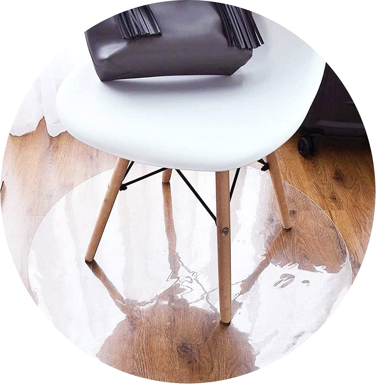 ZWYSL Office Super special San Antonio Mall price Chair Mat for Floor, Hardwood Shape Round Scratch