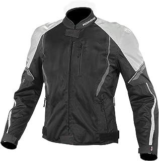 コミネ(KOMINE) バイク用 プロテクトハーフメッシュジャケット ブラック/ライトグレー L JK-146 12955 春夏秋向け メッシュ素材 CE規格レベル2 CE規格 プロテクター