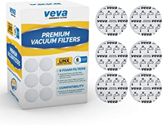 VEVA Premium Vacuum Filter Set with 6 Foam Filters 410044001 Parts for Hoover Linx Cordless Hand Stick Model BH50010, 50015, 50020, 50030 & SH20030