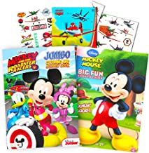 Disney Mickey and the Roadster Racers Coloring Book Super Set with Stickers and Bonus Tattoos (Party Supplies)