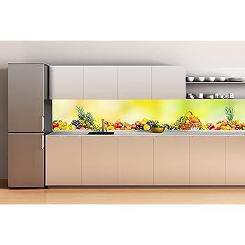 Decoración Pared Cocina Panelado en aluminio 120x70cm Bodegón Frutas | Decoración Pared Cocina de Aluminio (Dibond) | Imagen Elegante para Decorar Cocinas | 2 Ganchos de Pared Adhesivos Incluidos: Amazon.es: Hogar