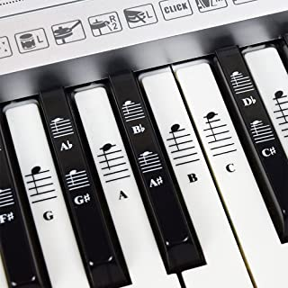 Piano and Keyboard Music Note Full Set Stickers for White...