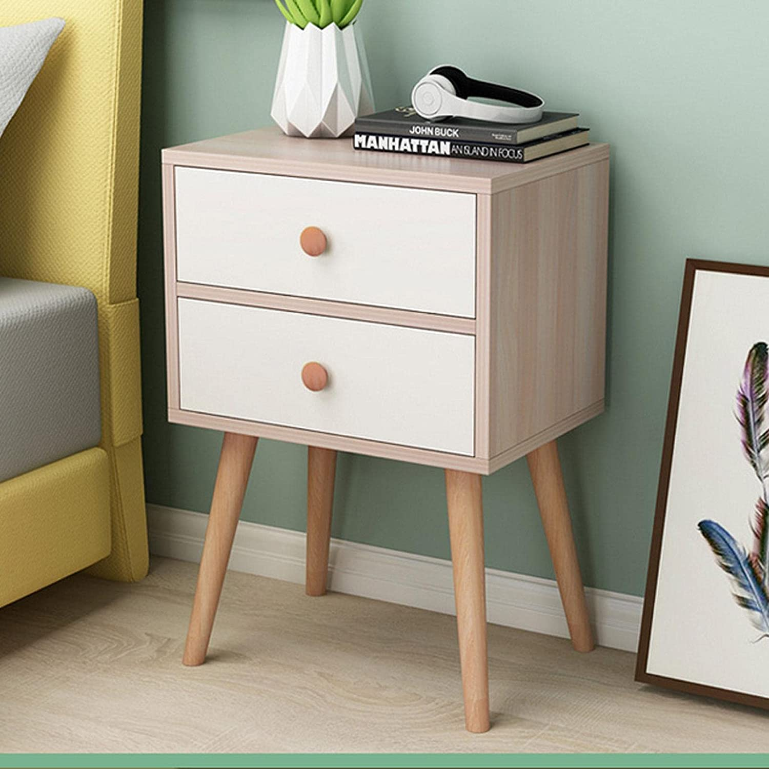 MTDHKX End Side Table Nightstand Wood Drawer with Storage Now on sale Award -Solid